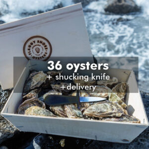 36 oysters and knife